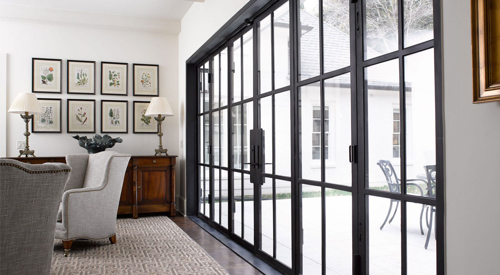 Steel and Glass French Door